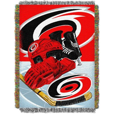NHL Home Ice Advantage Tapestry Throw Blanket NHL Team: Carolina Hurricanes