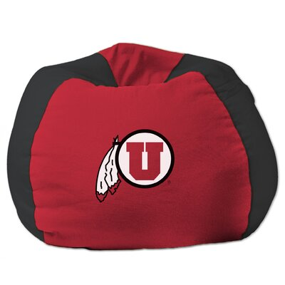 COL Bean Bag Chair NCAA Team: Utah, Upholstery: Red/Black