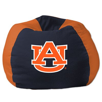 COL Bean Bag Chair NCAA Team: Auburn, Upholstery: Navy Blue/Orange