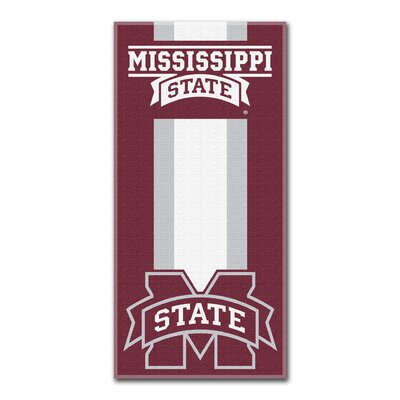 NCAA Zone Read Beach Towel NCAA Team: Mississippi State University