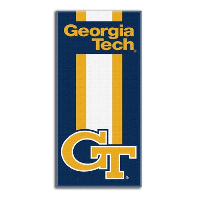 NCAA Zone Read Beach Towel NCAA Team: Georgia Institute of Technology
