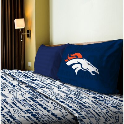 NFL Anthem Sheet Set Size: Twin, NFL Team: Broncos