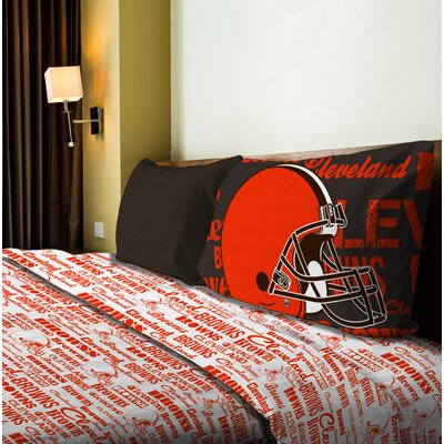 NFL Anthem Sheet Set Size: Twin, NFL Team: Browns