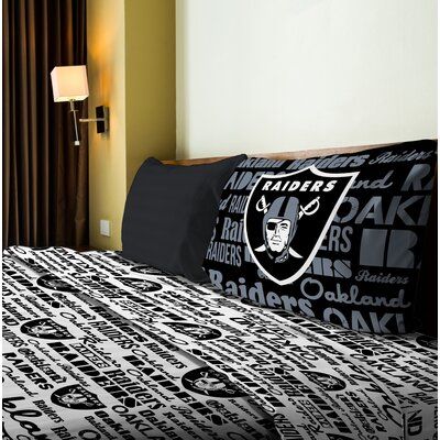 NFL Anthem Sheet Set Size: Twin, NFL Team: Raiders