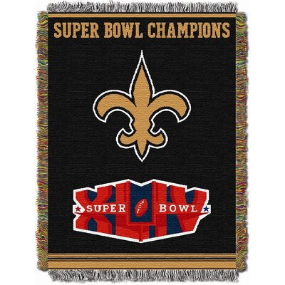 NFL New Orleans Saints Commemorative Tapestry Throw