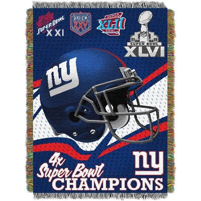 NFL New York Giants Commemorative Tapestry Throw