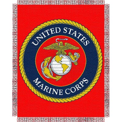 US Marine Corps Woven Throw