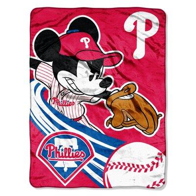 Northwest Co. MLB Mickey Mouse Micro Raschel Throw - MLB Team: Philadelphia Phillies at Sears.com