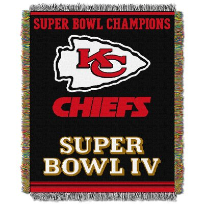 NFL Kansas City Chiefs Commemorative Tapestry Throw