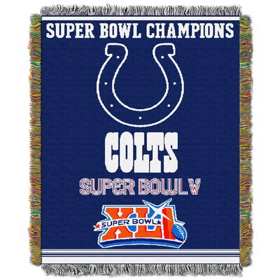 NFL Indianapolis Colts Commemorative Tapestry Throw