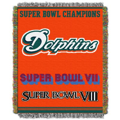NFL Miami Dolphins Commemorative Tapestry Throw