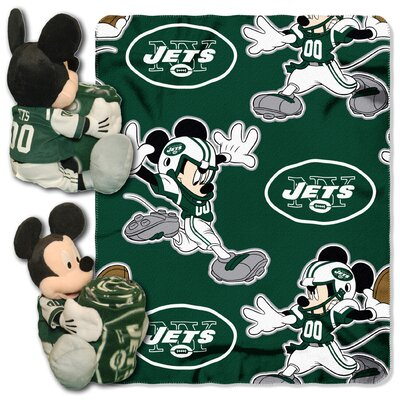 Northwest Co. NFL Mickey Mouse Fleece Throw - NFL Team: New York Jets at Sears.com
