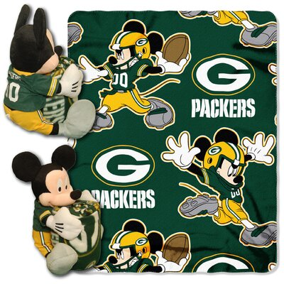 NFL Mickey Mouse Throw NFL Team: Green Bay Packers