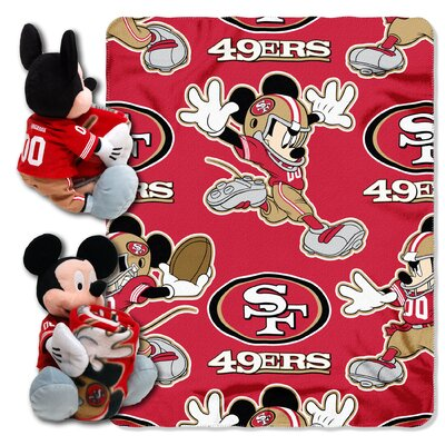 NFL Mickey Mouse Throw NFL Team: San Francisco 49ers