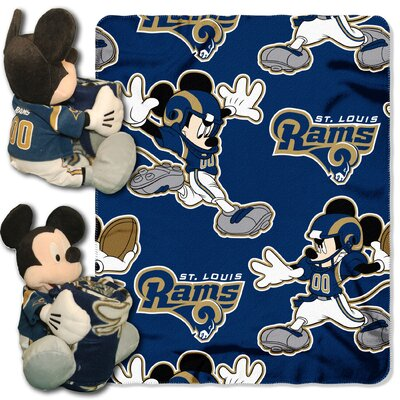 NFL Mickey Mouse Throw NFL Team: St. Louis Rams