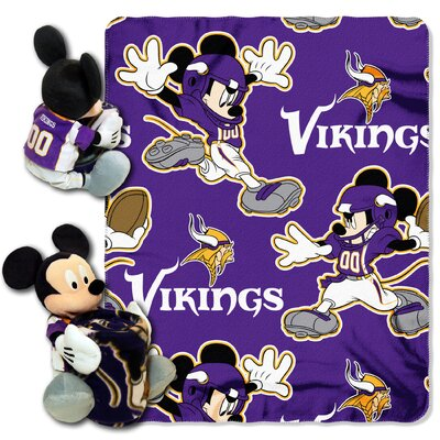 NFL Mickey Mouse Throw NFL Team: Minnesota Vikings