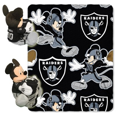 NFL Mickey Mouse Throw NFL Team: Oakland Raiders