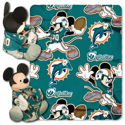 NFL Mickey Mouse Throw NFL Team: Miami Dolphins