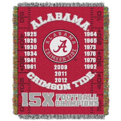 NCAA  Alabama Commemorative Woven Throw Blanket