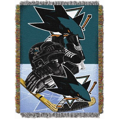 NHL Home Ice Advantage Tapestry Throw Blanket NHL Team: San Jose Sharks