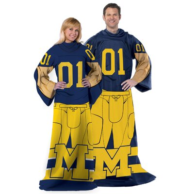 College NCAA Michigan Comfy Throw