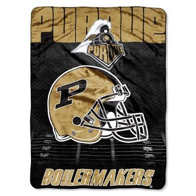 College NCAA Purdue Micro Raschel Throw