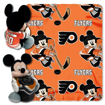NHL Mickey Mouse Throw NHL Team: Philadelphia Flyers