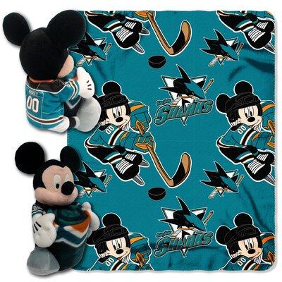 NHL Mickey Mouse Throw NHL Team: San Jose Sharks