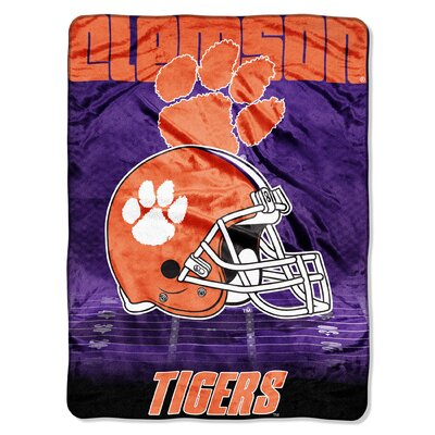 College NCAA Clemson Micro Raschel Throw