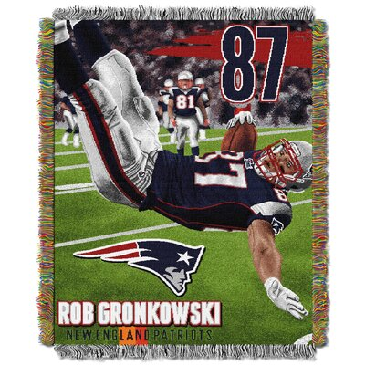 NFL Rob Gronkowski-Patriots Player Throw Blanket