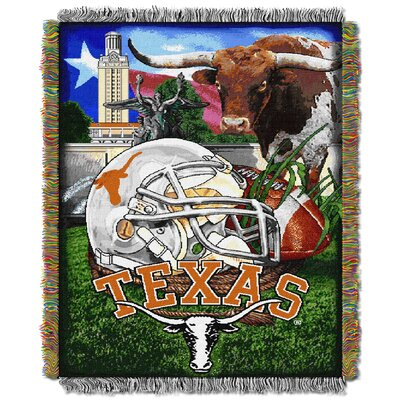 Collegiate Texas HFA Woven Tapestry Throw