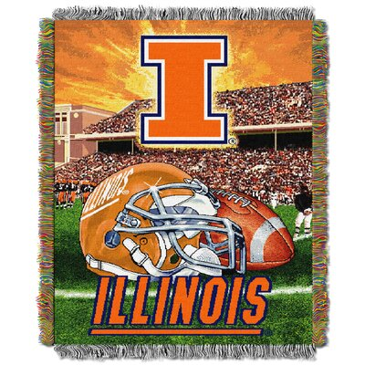 NCAA Illinois Tapestry Throw