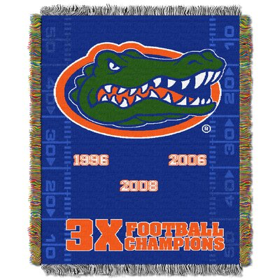 NCAA Florida Gators Commemorative Woven Throw Blanket