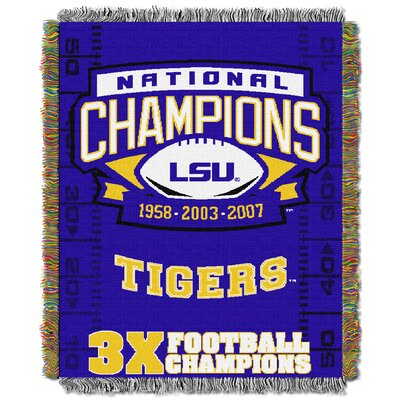 NCAA LSU Commemorative Woven Throw Blanket