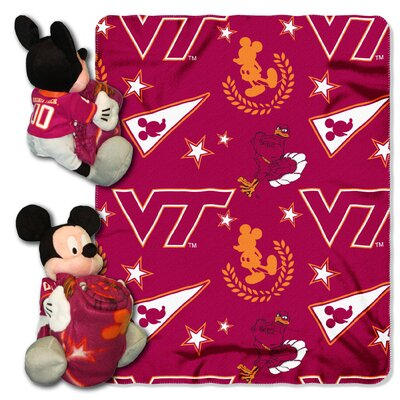 College NCAA Virginia Tech Mickey Mouse Throw