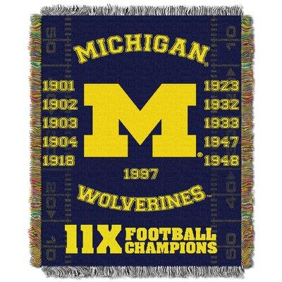 NCAA Michigan Commemorative Woven Throw Blanket