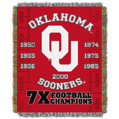 NCAA Oklahoma Commemorative Woven Throw Blanket