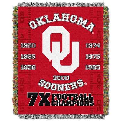 NCAA Oklahoma Commemorative Woven Throw Blanket