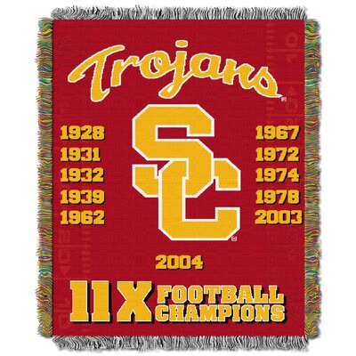NCAA University of Southern California Commemorative Woven Throw Blanket