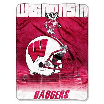 NCAA Wisconsin Micro Raschel Throw