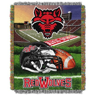 Collegiate Arkansas State HFA Woven Tapestry Throw