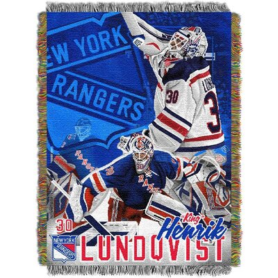 NHL Hendrick Lundqvist NY Rangers Player Throw Blanket