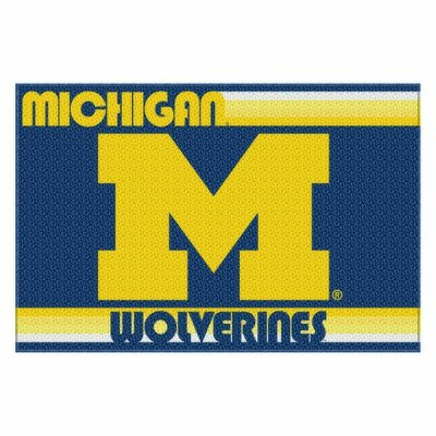 Collegiate Michigan Old Glory Mat