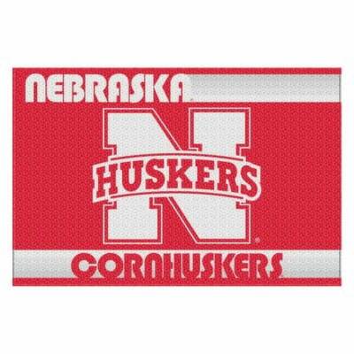 Collegiate Nebraska Old Glory Mat