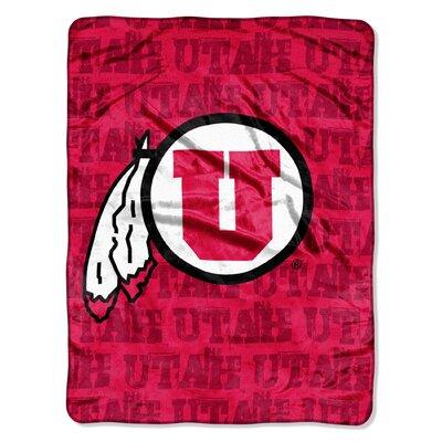 College NCAA Utah Micro Raschel Throw Blanket