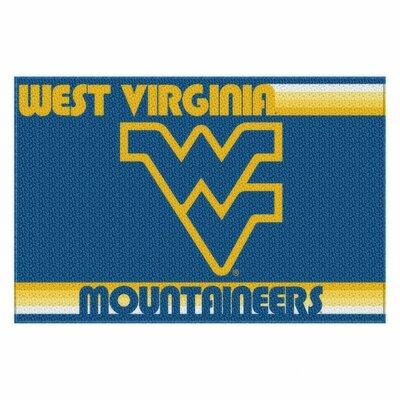 Collegiate West Virginia Old Glory Mat