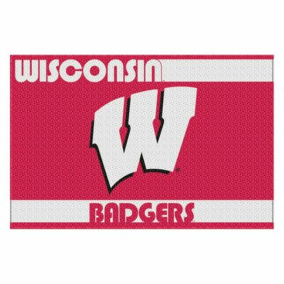 Collegiate Wisconsin Old Glory Mat