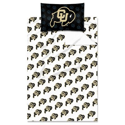 College NCAA Colorado Twin Sheet Set
