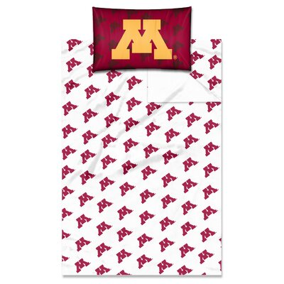 College NCAA Minnesota Twin Sheet Set