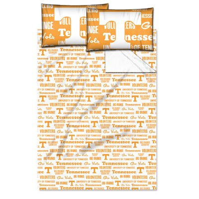 College NCAA Tennessee Sheet Set Size: Twin